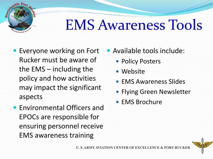 EMS Awareness Tools