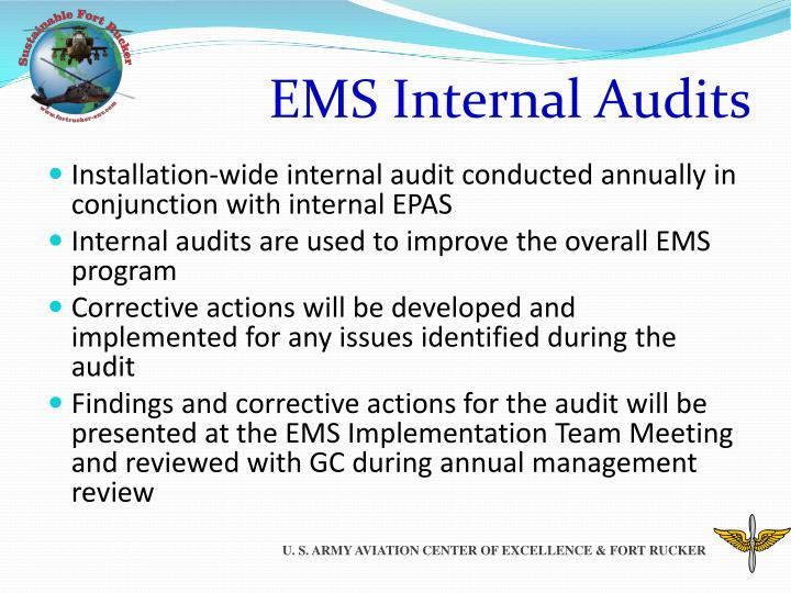 EMS Internal Audits