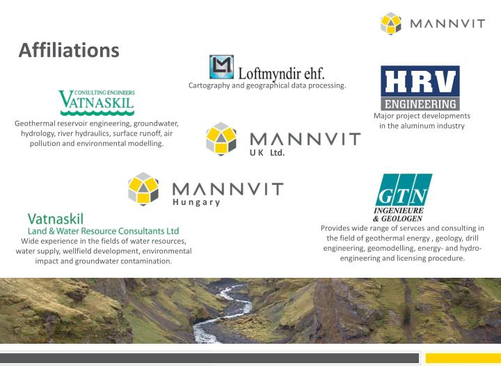 Ppt mannvit at a glance powerpoint presentation id1622304 provides wide range of servces and consulting in the field of geothermal energy geology drill engineering geomodelling energy and hydro engineering sciox Image collections