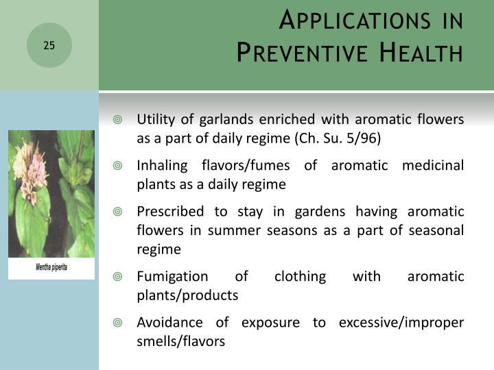Applications in Preventive Health