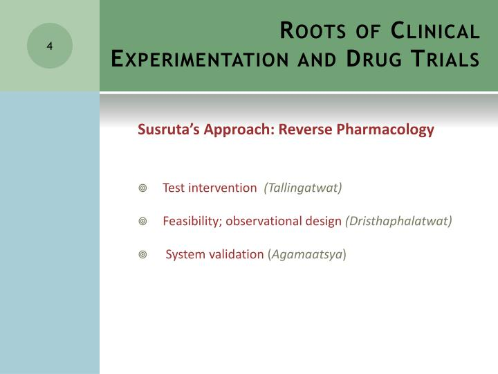 Roots of Clinical Experimentation and Drug Trials