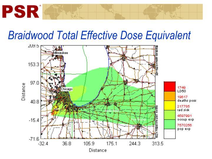 Braidwood Total Effective Dose Equivalent