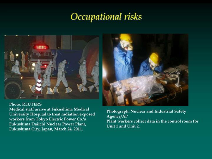 Occupational risks