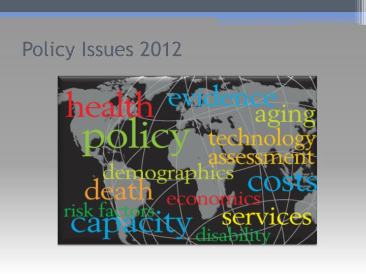 Policy Issues 2012