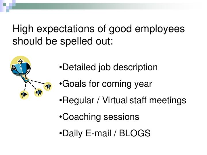 High expectations of good employees should be spelled out:
