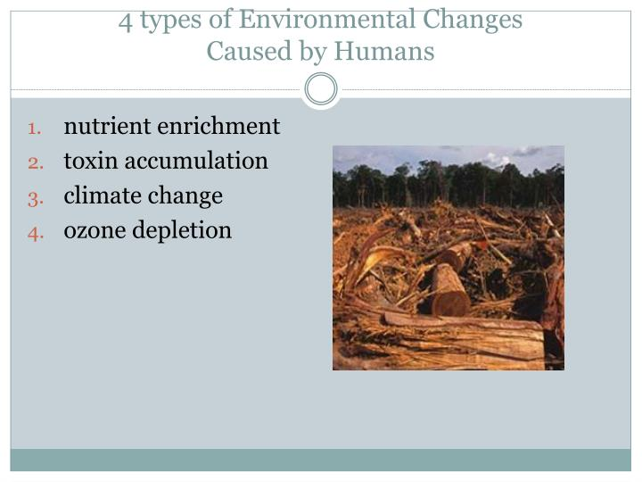 4 types of Environmental Changes
