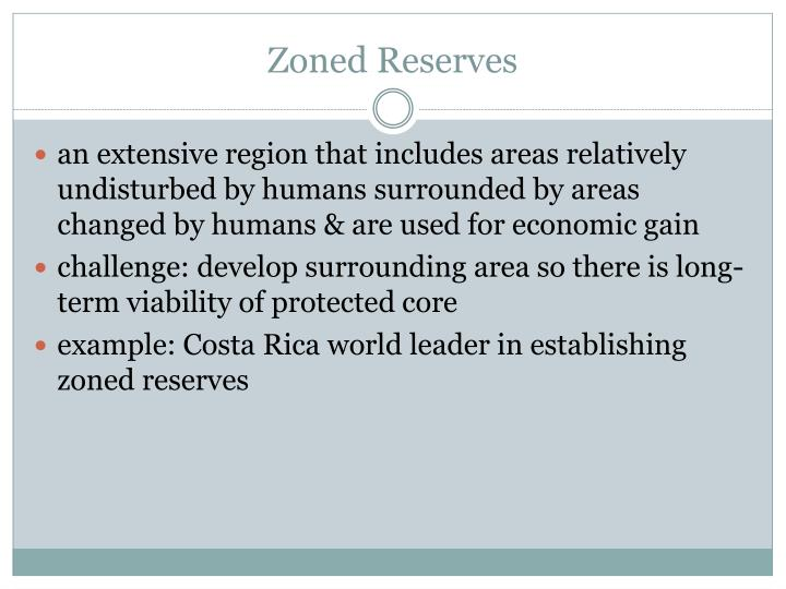 Zoned Reserves