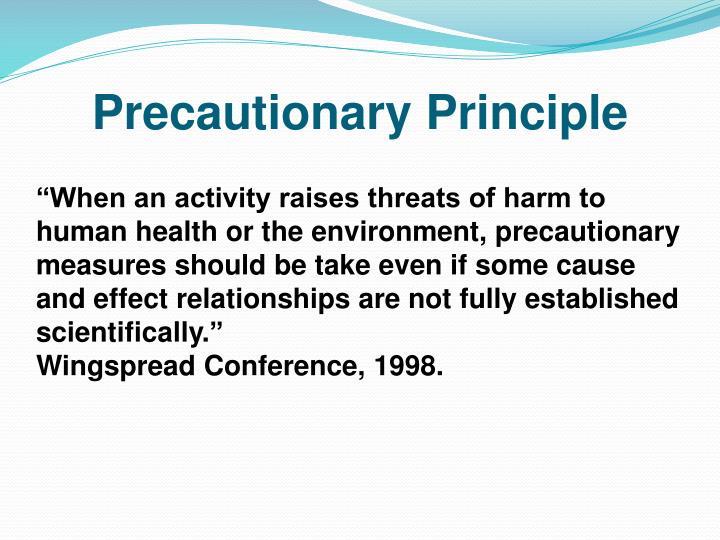 precautionary principle Publications and videos about the precautionary principle.