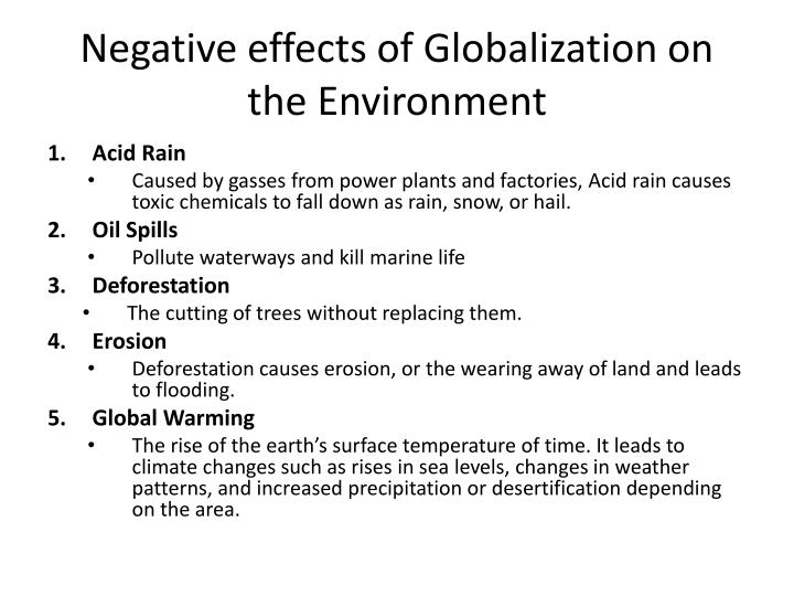 impact of globalization ppt