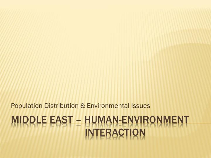 population distribution environmental issues n.