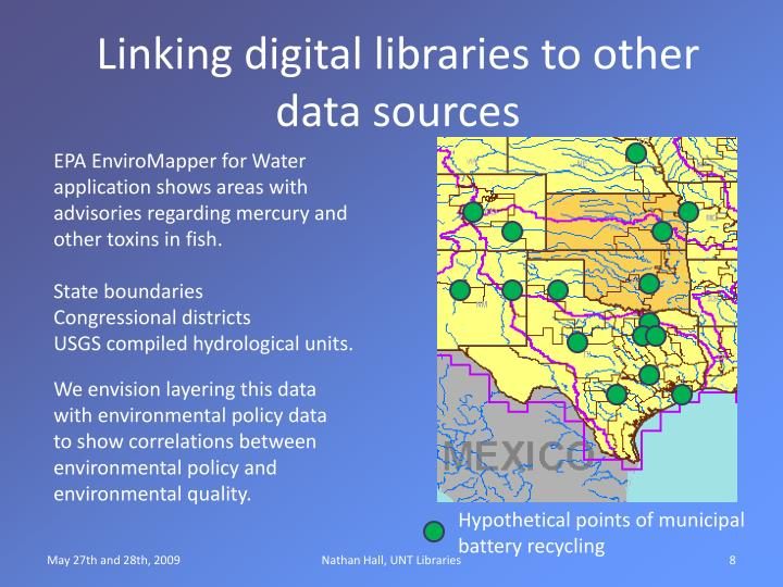 Linking digital libraries to other data sources