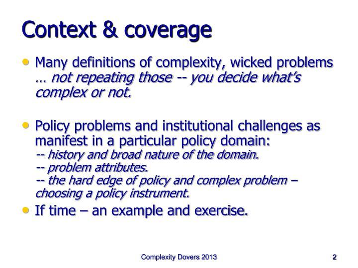 Context coverage
