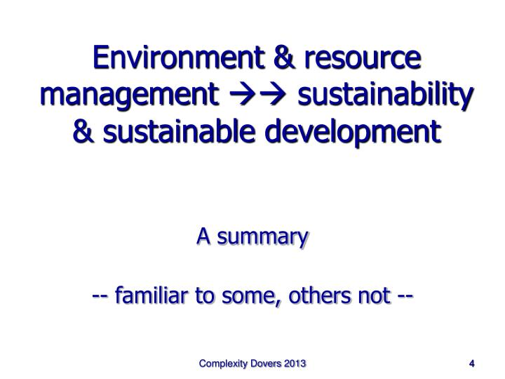 Environment &