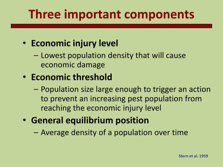 Three important components