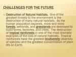 challenges for the future7