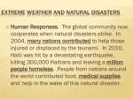 extreme weather and natural disasters12