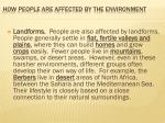 how people are affected by the environment2