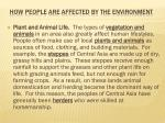 how people are affected by the environment6
