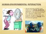 human environmental interaction