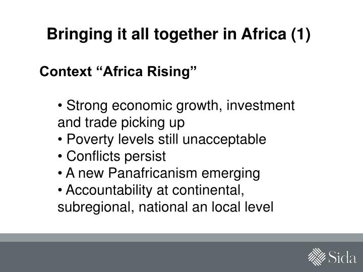 Bringing it all together in Africa (1)