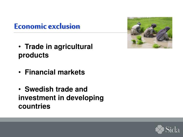 Economic exclusion