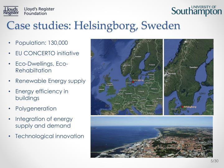 Case studies: Helsingborg, Sweden