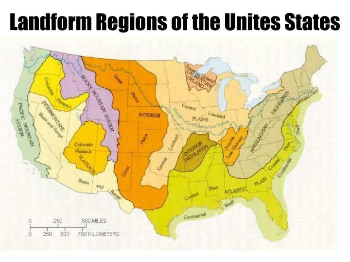 Landform Regions of the Unites States