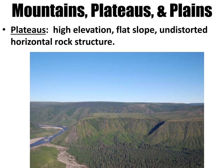 Mountains, Plateaus, & Plains