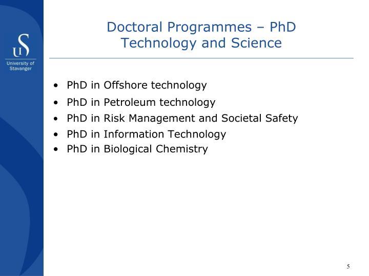 Doctoral Programmes – PhD