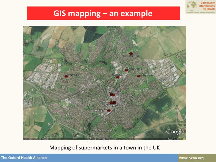 GIS mapping – an example
