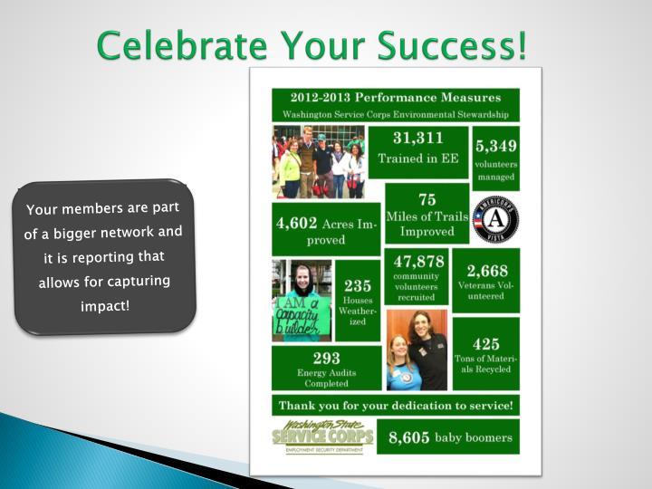 Celebrate Your Success!