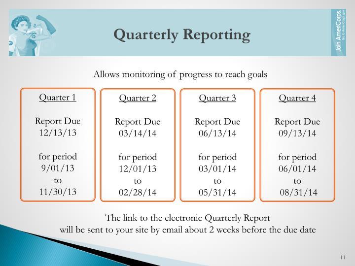 Quarterly Reporting