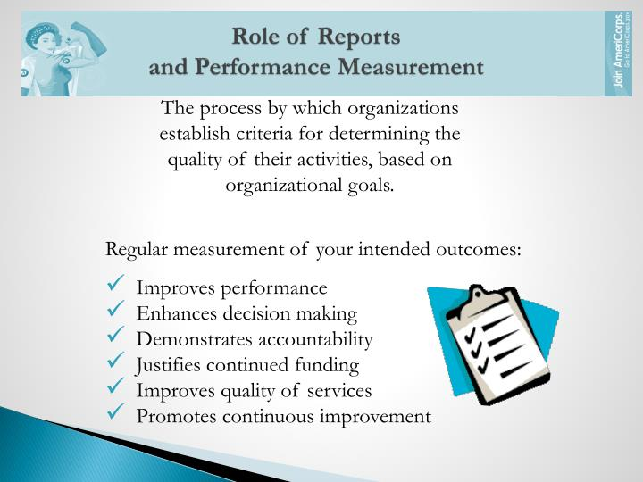 Role of Reports