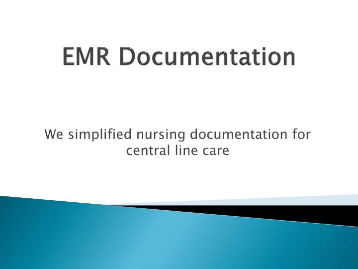EMR Documentation