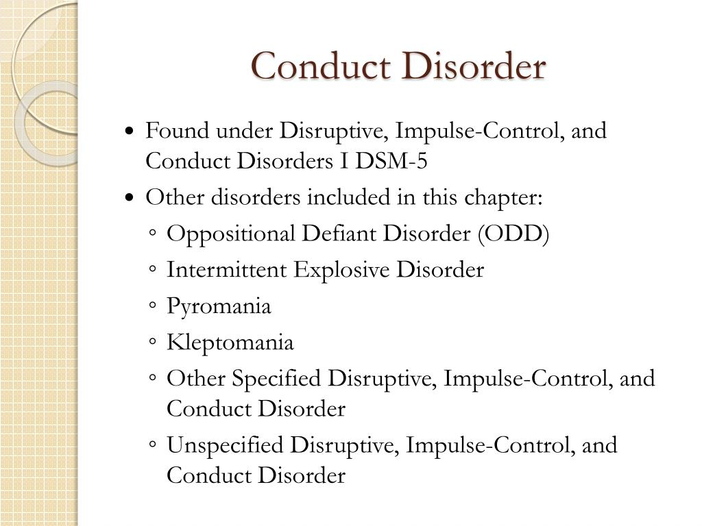 PPT - Conduct Disorder PowerPoint Presentation, free ...
