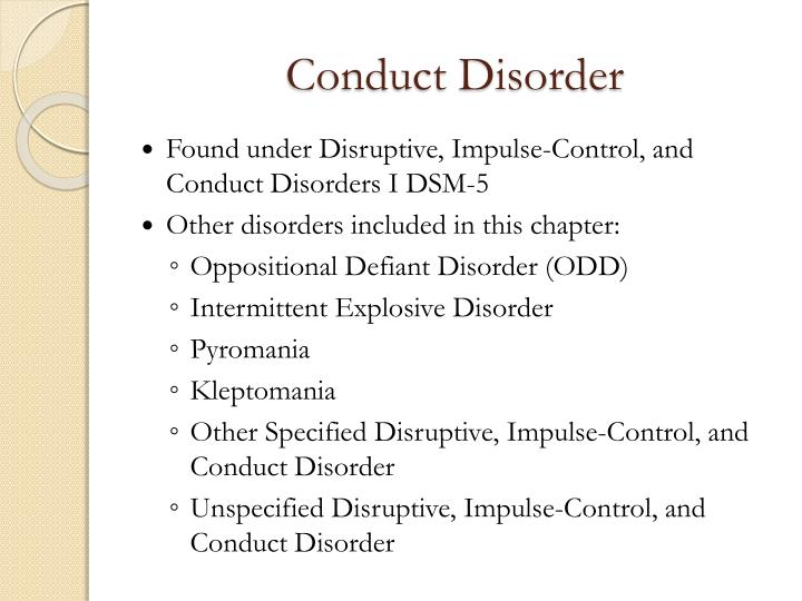 Ppt Conduct Disorder Powerpoint Presentation Id1622870