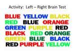 activity left right brain test