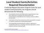 local student events activities required documentation1