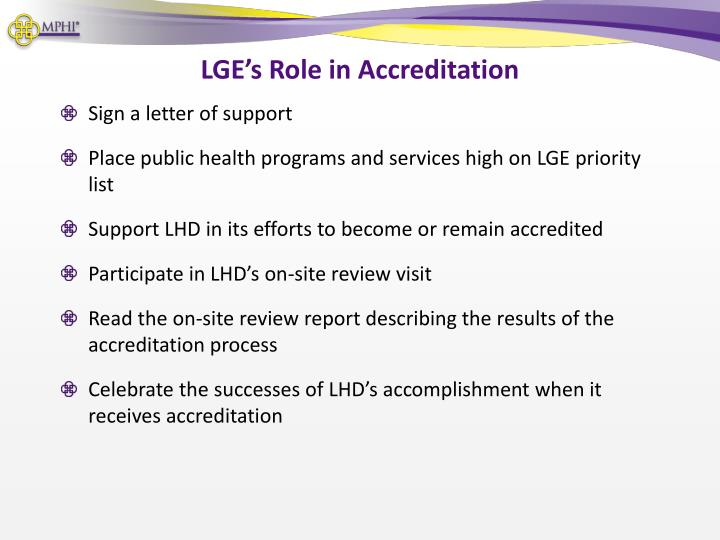 LGE's Role in Accreditation