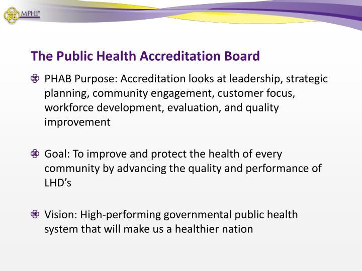 The Public Health Accreditation Board