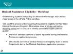 medical assistance eligibility workflow
