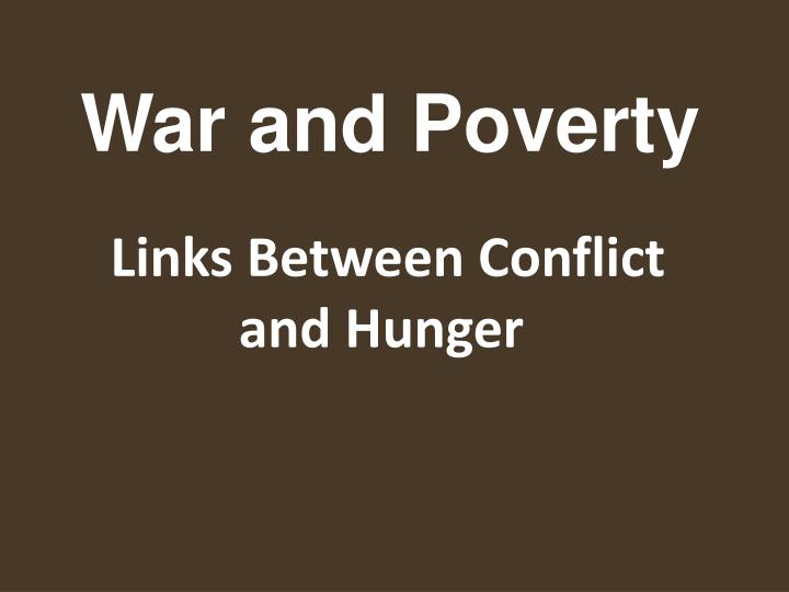 Links between conflict and hunger