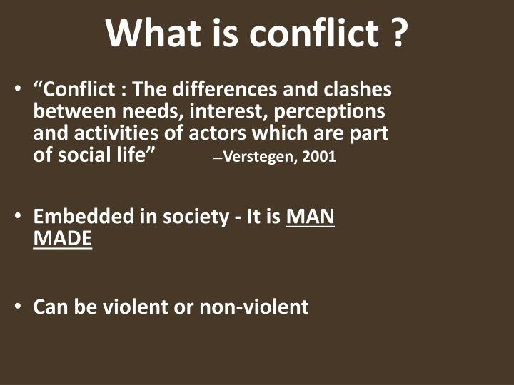 What is conflict