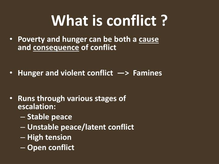 What is conflict1