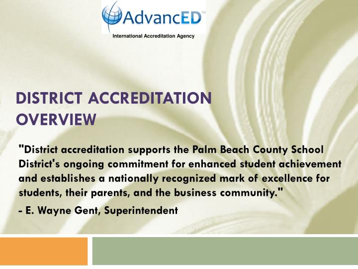 district accreditation overview n.
