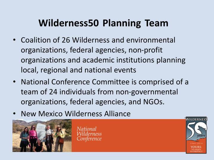 Wilderness50 planning team