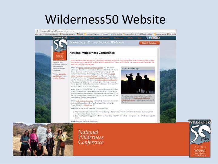 Wilderness50 Website