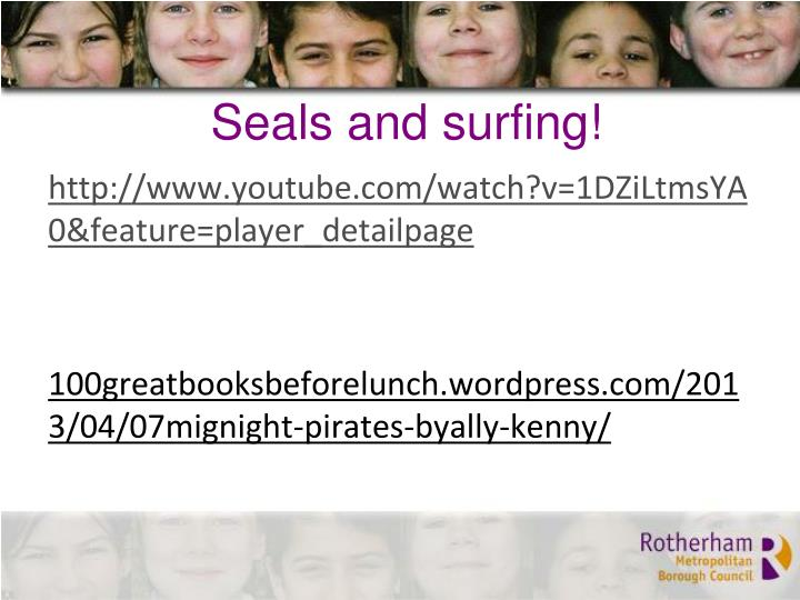 Seals and surfing!