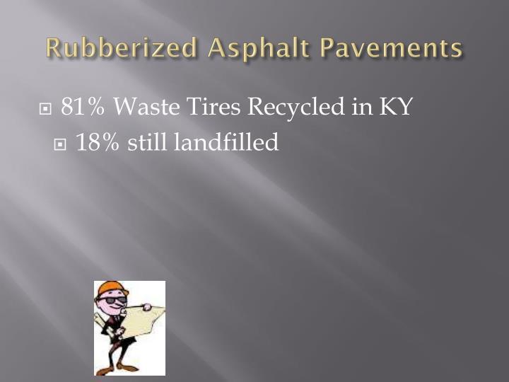 Rubberized Asphalt Pavements