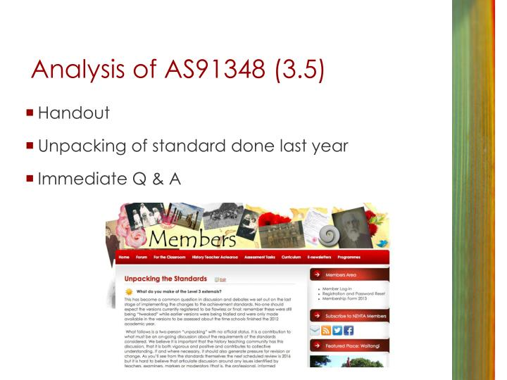 Analysis of AS91348 (3.5)